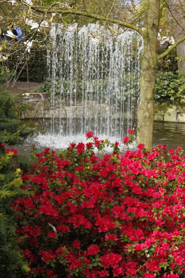 Pensailla luot helposti väriä puutarhaan.